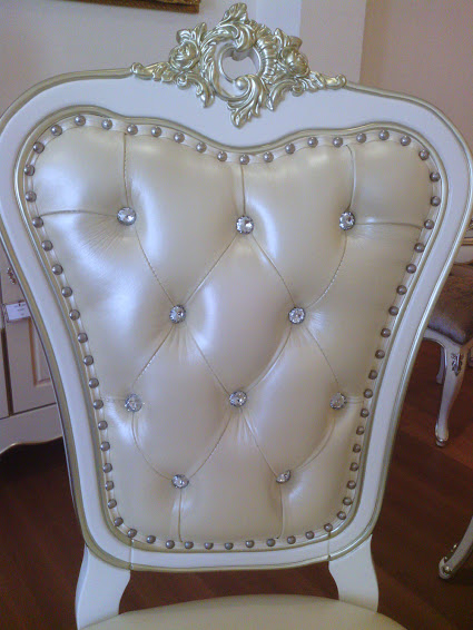 White Painted Versailles Armchair