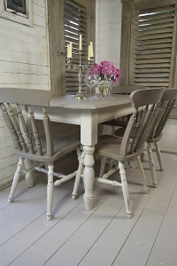 Brown Shabby Dining Chair