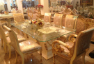 White Gold Carving Dining Chair