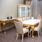 White and Gold Luxury Dining Set